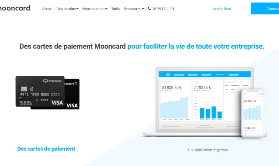 Cartes professionnelles et gestion des notes de frais : La tarification de Mooncard
