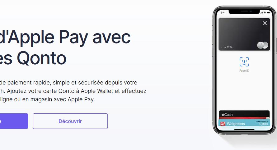 La neobanque Qonto propose à ses clients Apple Pay